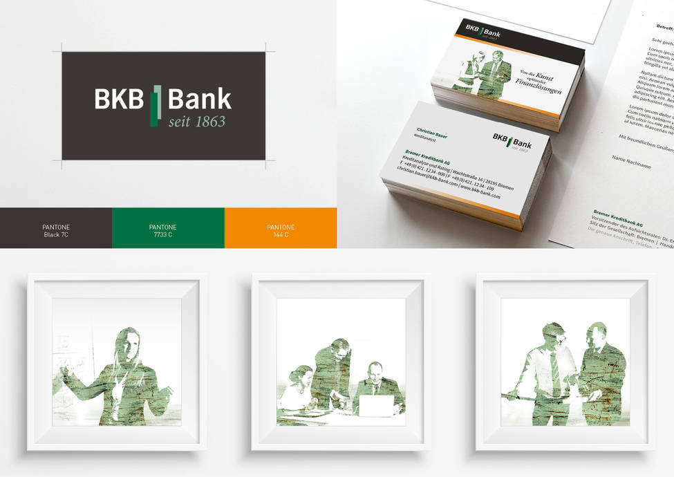 Arbeitsbeispiele | Corporate Design | Kunde BKB Bank