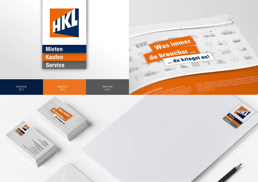 Arbeitsbeispiele | Corporate Design | Kunde HKL Baumaschinen