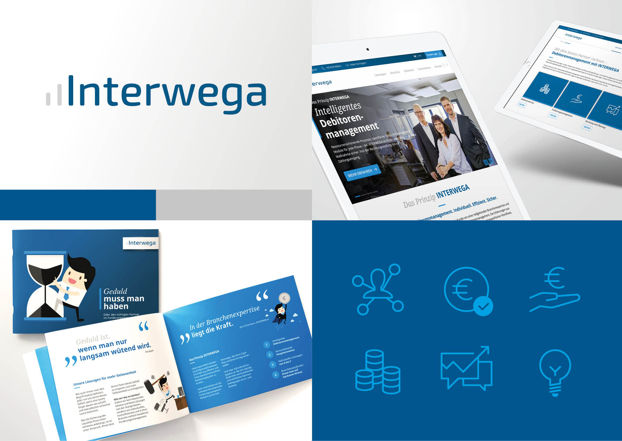 Arbeitsbeispiele | Corporate Design | Kunde Interwega