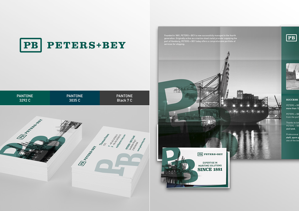Arbeitsbeispiele | Corporate Design | Kunde Peters & Bey