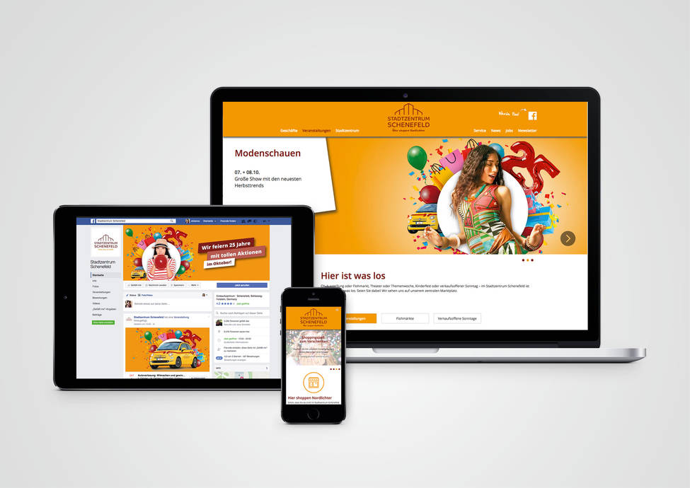 Arbeitsbeispiele | Online-Marketing | Webdesign | Kunde Stadtzentrum Schenefeld
