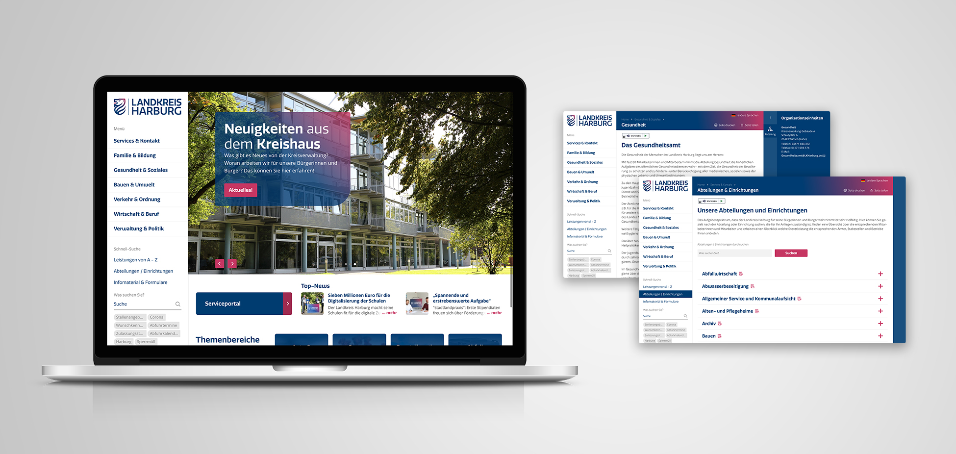 B2B-Marken-Relaunch | Case Study LKH | Website Design